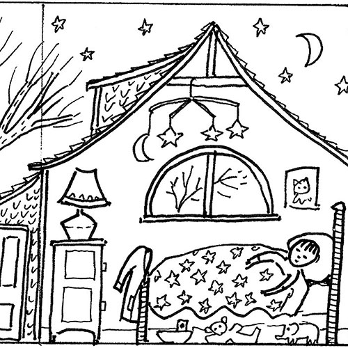 Salley Mavors My Bed Book Coloring Pages Cahoon Museum Of American Art
